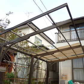 カーポート屋根の修理-BEFORE01