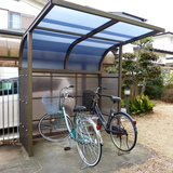 駐輪場の屋根修理