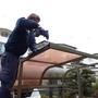 駐輪場の屋根修理-BEFORE03