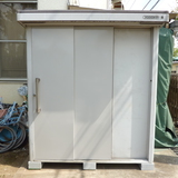 物置・アルミドアの扉修理