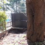 石碑、庭石の撤去作業