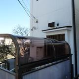 サイクルポート屋根張替え工事