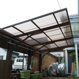 波板カーポートの屋根張替え