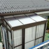 サンルームの屋根張替え工事