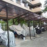 駐輪場の屋根張替え修理