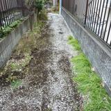 敷石の撤去工事