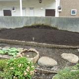 花壇の解体とブロック処分