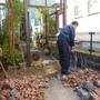 門柱レンガの解体撤去-BEFORE04
