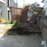 庭石の撤去処分工事