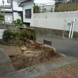 庭石と植木の撤去