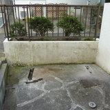 花壇の解体撤去