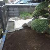 庭木の伐根作業