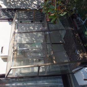 温室、ベンチの回収-BEFORE01