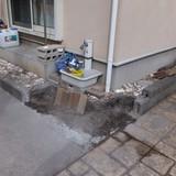 囲いブロックの解体