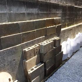 ブロックや玉石の回収-BEFORE01